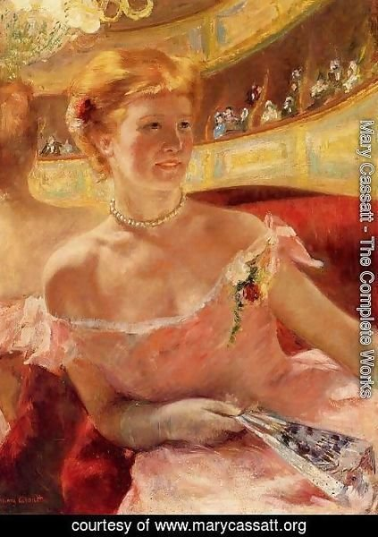 Mary Cassatt - Woman In A Loge