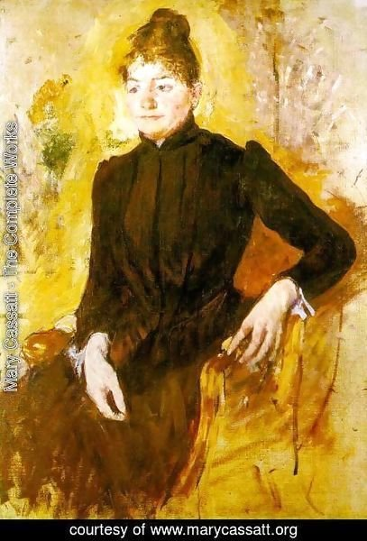 Mary Cassatt - Woman In Black