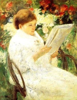 Mary Cassatt - Woman Reading In A Garden