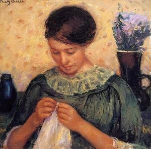 Mary Cassatt - Woman Sewing