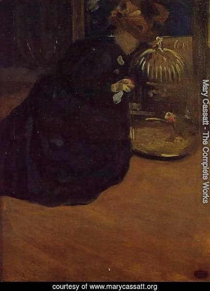 Woman With A Parakeet