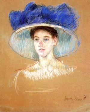 Mary Cassatt - Womans Head With Large Hat
