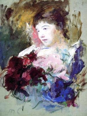 Mary Cassatt - Young Girl Holding A Loose Bouquet