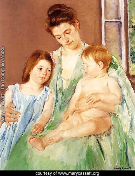 Young Mother And Two Children