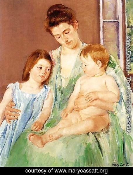 Mary Cassatt - Young Mother And Two Children