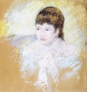 Mary Cassatt - Young Girl With Brown Hair  Looking To Left